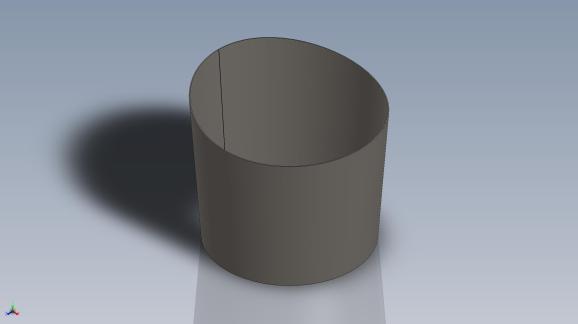 J'ai utilisé le logiciel de CAO solidworks pour dessiner et avoir un rendu visuel représentatif de ma pièce. Le logiciel a également permis de m'éviter le traçage laborieux d'un tronc de cône coupé par une courbe.