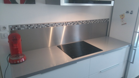 Cr dence inox cuisine travaux st phane rousseau for Credence alu ou inox